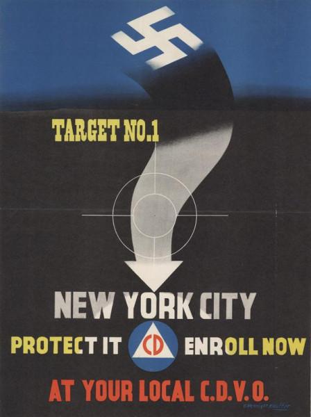 плакат НЙ - цель фашистов номер один. Защити его!