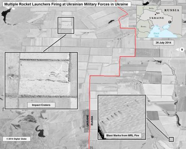 Удары реактивных систем залпового огня на территории Украины 25-26 июля