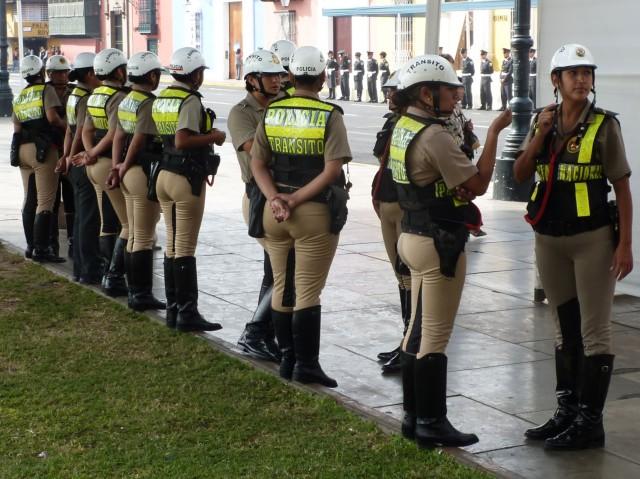 Дорожная полиция, вид сзади