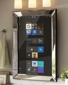 Сенсорное зеркало на Windows 10 для ванной комнаты - smart mirror