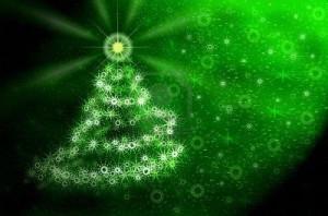 641524-a-rbol-verde-de-navidad-de-copos-de-nieve