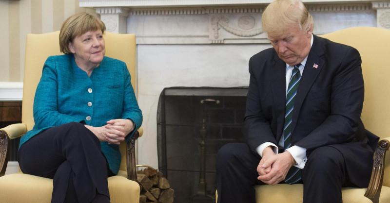 Трамп и Меркель объединились ради Украины