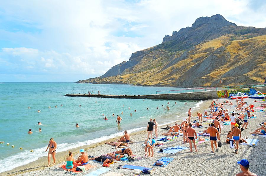 красить, крым коктебель пляжи фото система открывания
