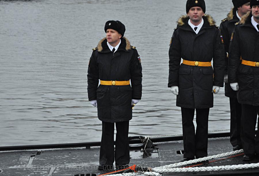 На большой подводной лодке Б-271 «Колпино» проекта 636.3 поднят Андреевский флаг
