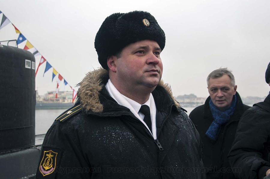 Командир Б-268 «Великий Новгород» капитан 3 ранга Сергей Рябищенко