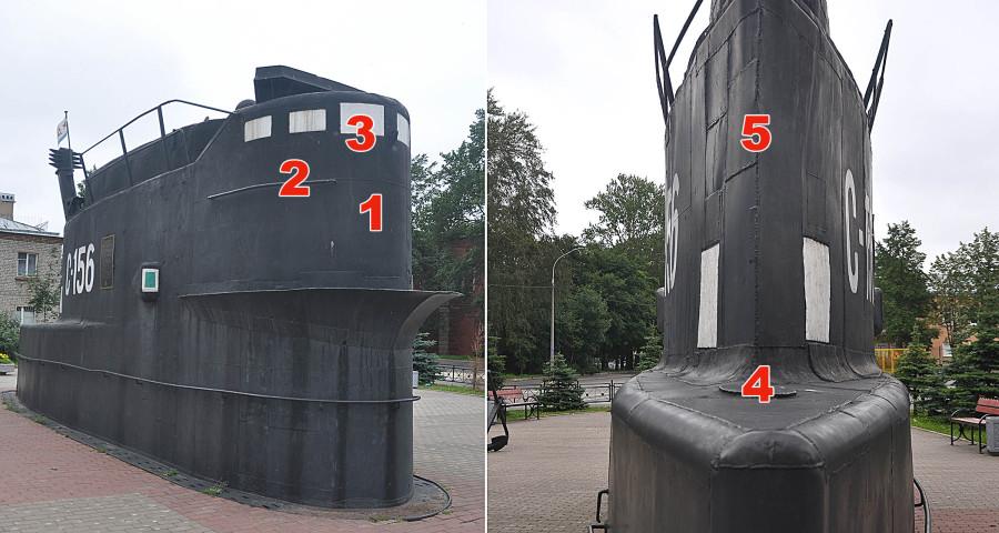 Рубка подводной лодки С-362 в Кронштадте