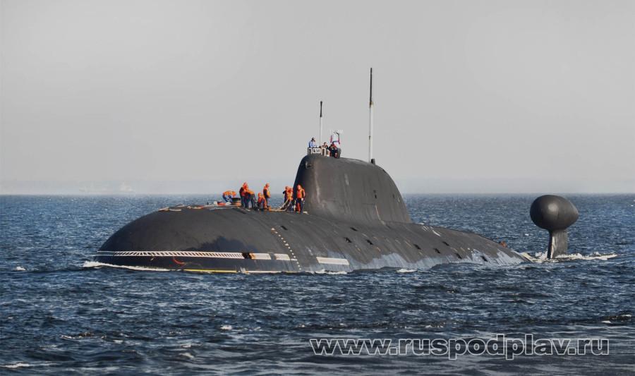 """К-157 """"Вепрь"""" проекта 971 в Финском заливе"""