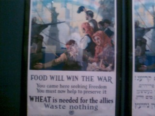 An old poster from World War I