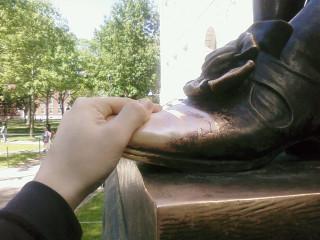John Harvard's toe