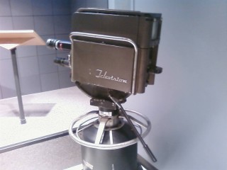 The TV camera...