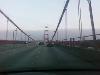 Crossing Golden Gate Bridge...