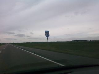 Back on I-90 West