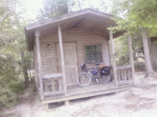Inexpensive cabins at the Vancleave RV park...