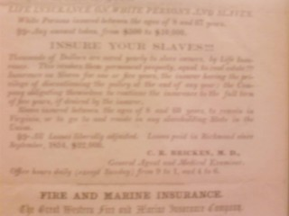 A slaveholder's insurance policy...
