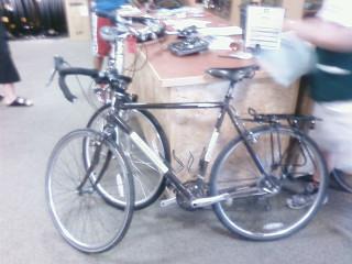 Bike at a Virginia REI