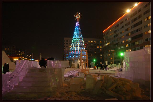 Ice sculptures construction