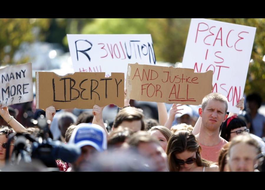 америка протест