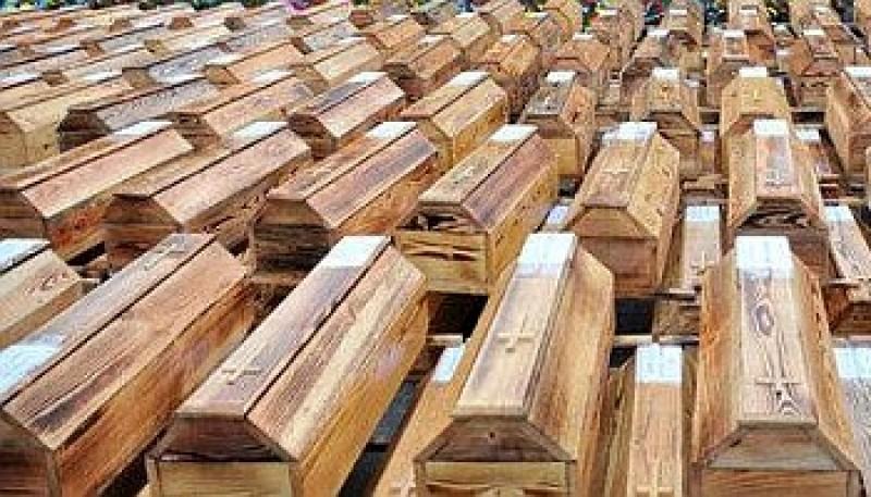 потери гробы
