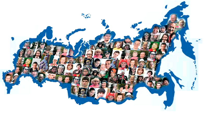 Image result for population of russia map