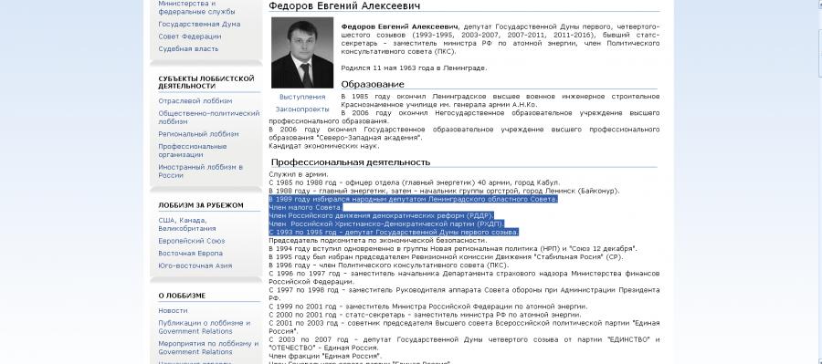 федоров РХПД демократические реформы