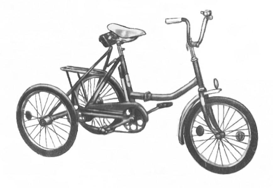 Трехколесный велосипед из двухколесного своими руками