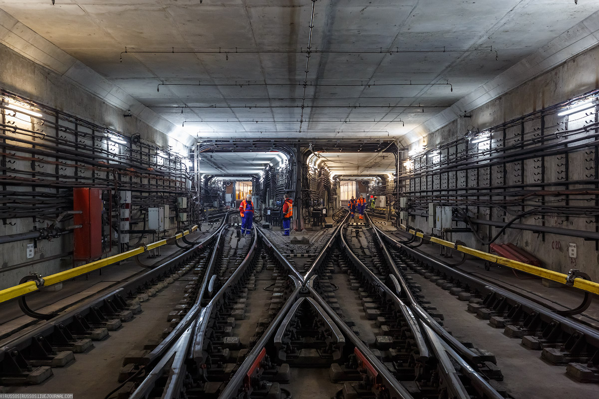 Работы около станции метро «Саларьево»