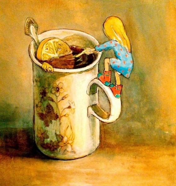 Открытка, картинки с чаем смешные