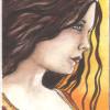 Arwen Fan Hand-Painted Sketch Card
