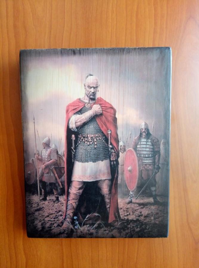 Картина на дереве Князь Святослав