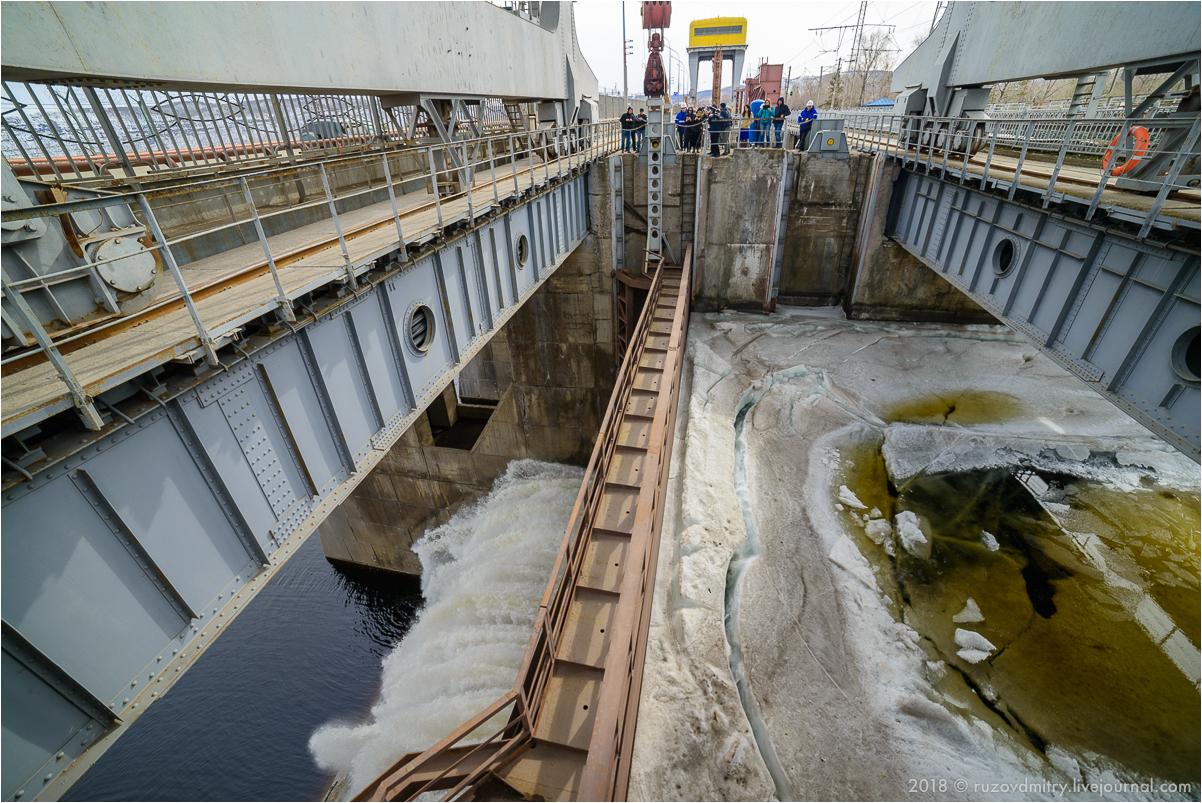 Жигулевская ГЭС. Сброс воды 2018
