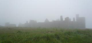 Slains Castle in Fog