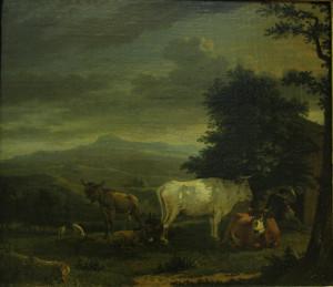 Karel Dujardin Пейзаж с животными