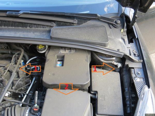 съемка аккумулятора с форд фокус 2 рестайлинг