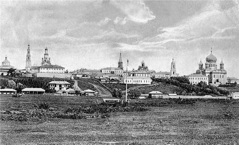 общий вид на город состороны современного Пушкинского парка