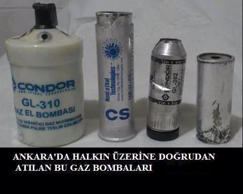 Основные виды боеприпасов, используемые турецкой полицией