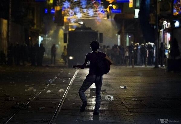 This is photo taken in Turkey protest