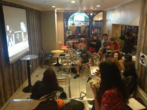 or Gezi Park Newsroom. Turkish food, live streams of protests, skype to Istanbul