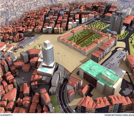 План реконструкции парка Таксим