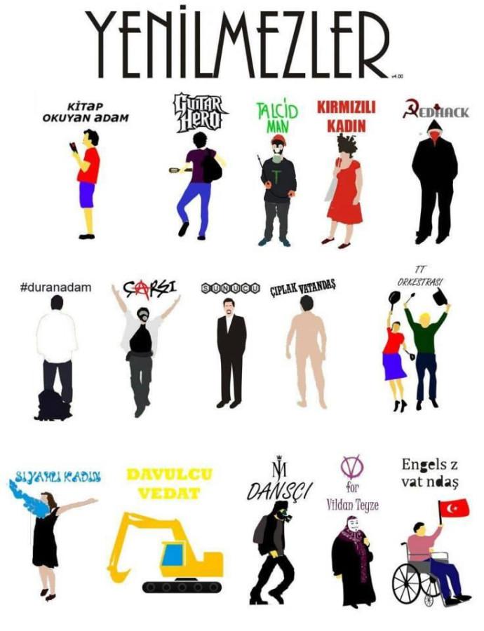 Символы турецкого протеста