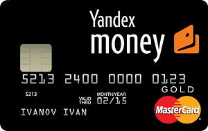 Карта Яндекс-денег