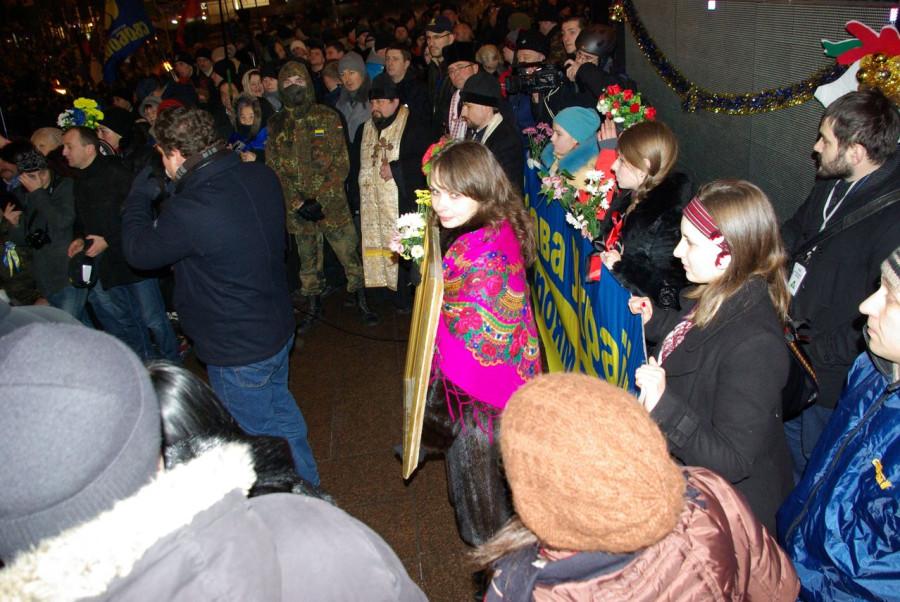 Факельное шествие памяти Степана Банедры в Киеве 1 января 2014 года