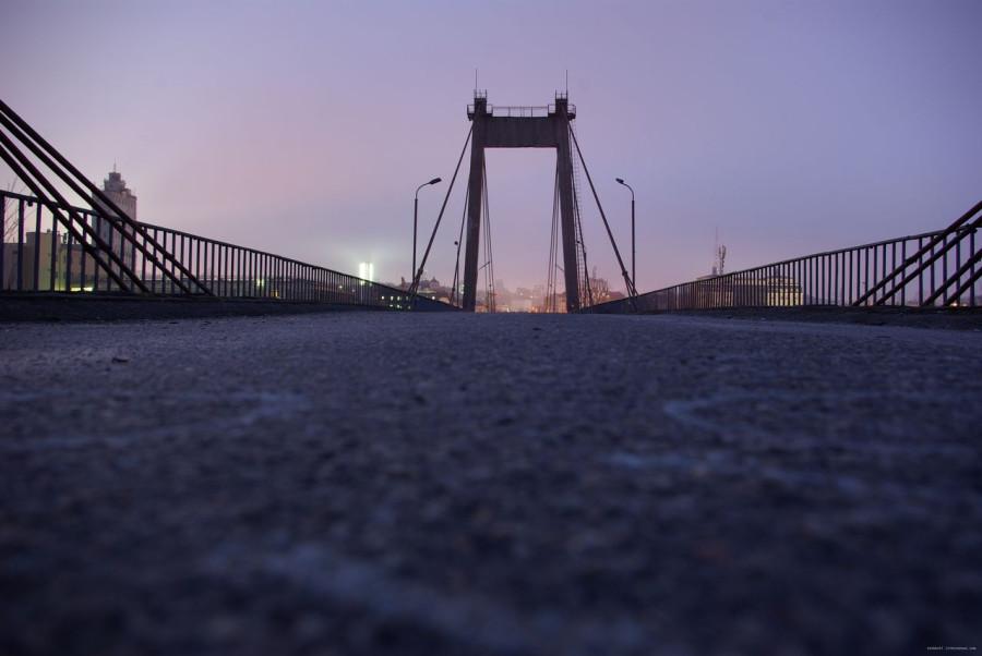 Рыбальский вантовый мост в Киеве