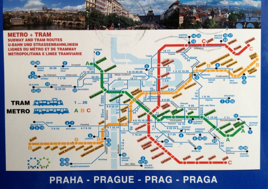 А из Праги схема общественного