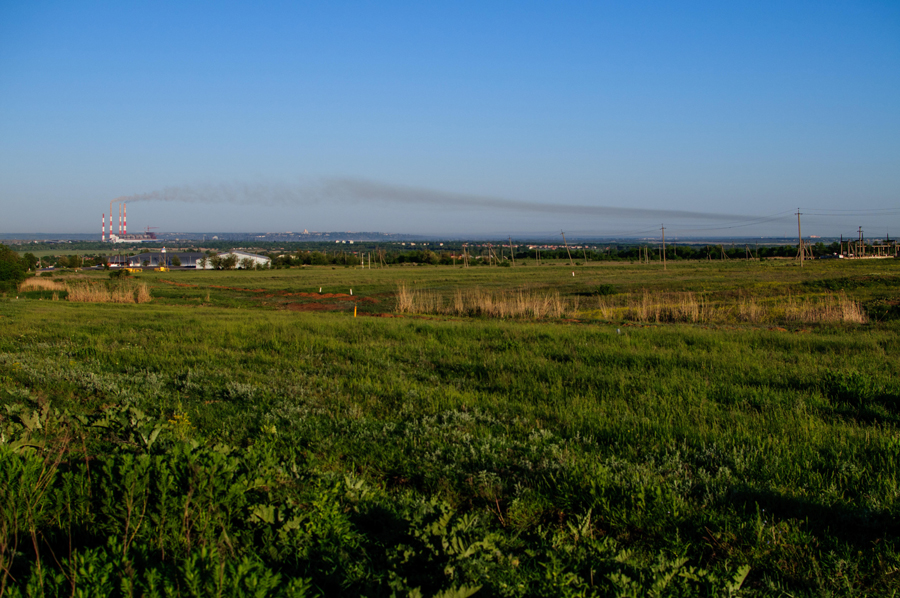 Вид на Заплавскую, НчГРЭС и Новочеркасск