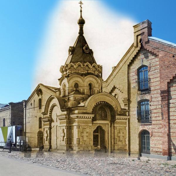 Тихвинская часовня, Красные амбары (Спикери), Рига
