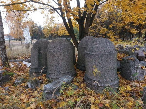 Почти сто лет эти столбы окружали Колонну Победы