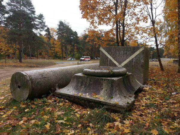 Останки Колонны Победы. Вечная память