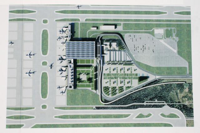 Схема нового терминала Пулково