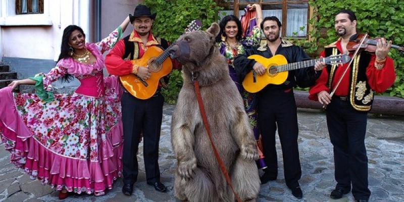 Картинки цыган с медведем