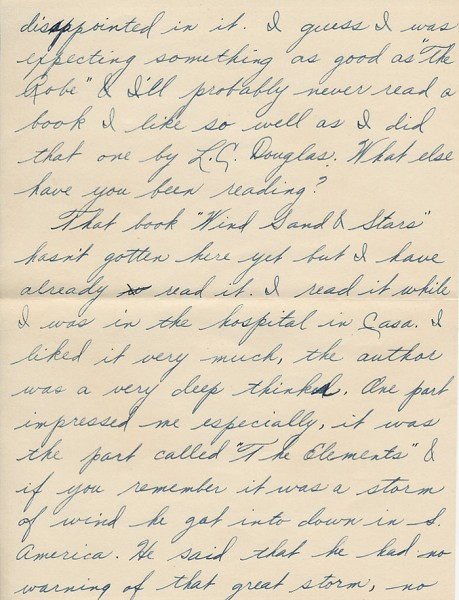 Letter from David to his sister Aileen from Paris during World War II. Page 2 of 6. Select the image for a larger view.